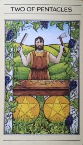 PENTACLES two of